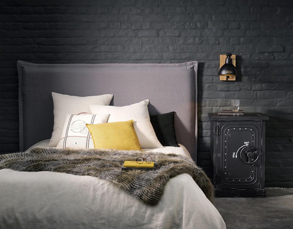 Hoofdbord Bed Bekleden.Hoofdeinde Bed 140 Cm Te Bekleden Met Een Hoes Soft Maisons Du Monde