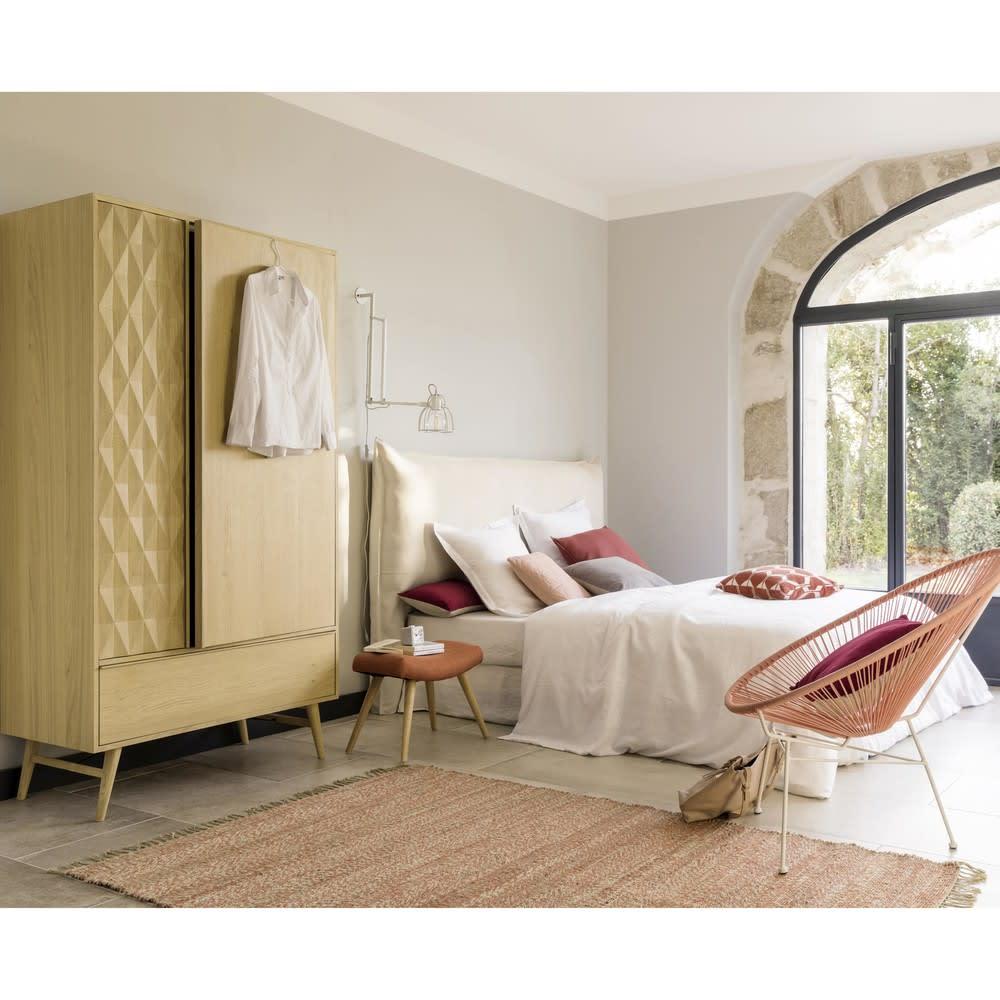 Hoofdbord Bed Bekleden.Hoofdeinde Bed 180 Cm Te Bekleden Met Een Hoes Soft Maisons Du Monde