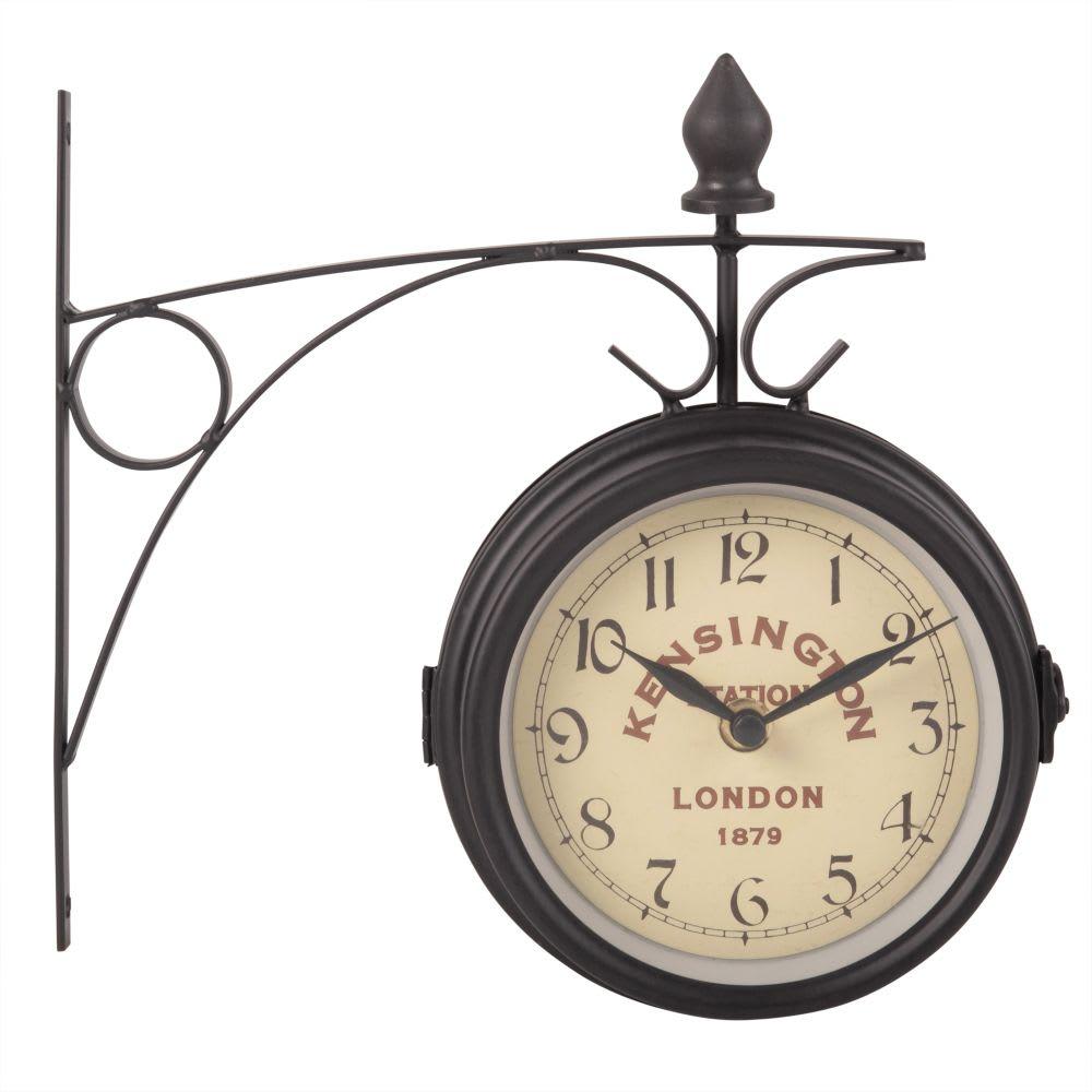 Horloge Applique En Metal Gris Ardoise Kensington Maisons Du Monde