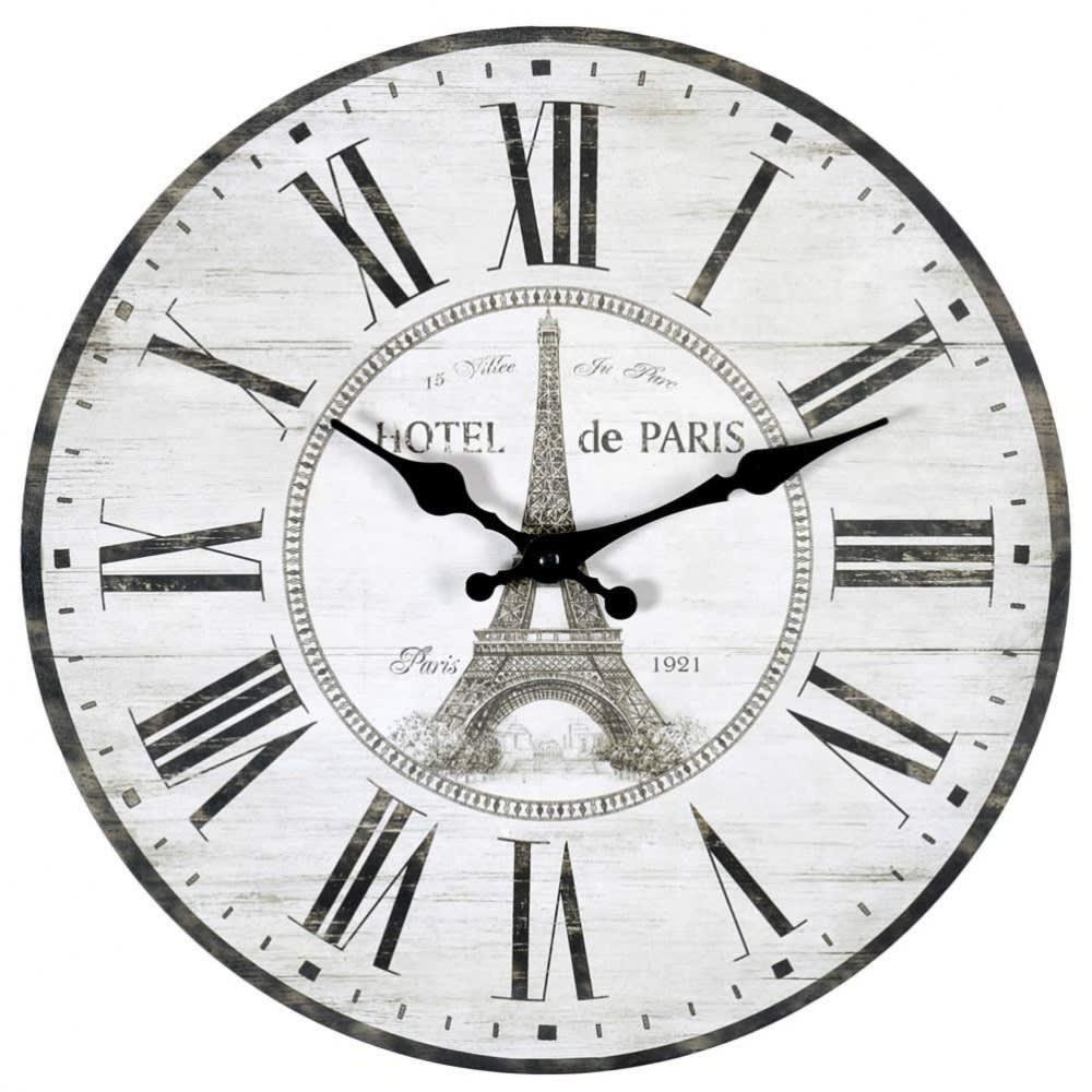 8b9192cf6806c3 Horloge blanche D 34 cm Hôtel De Paris