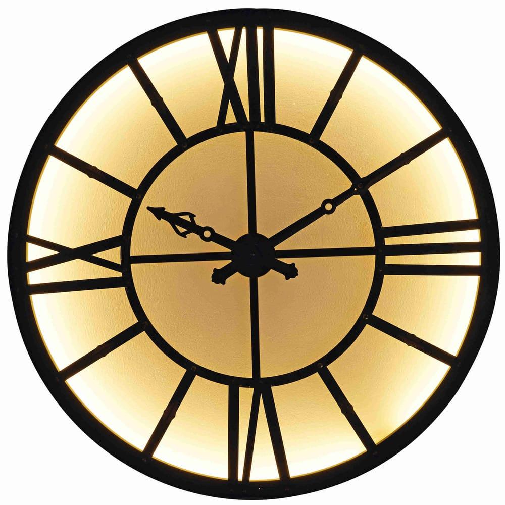 Horloge lumineuse en m tal noir duke maisons du monde for Horloge lumineuse