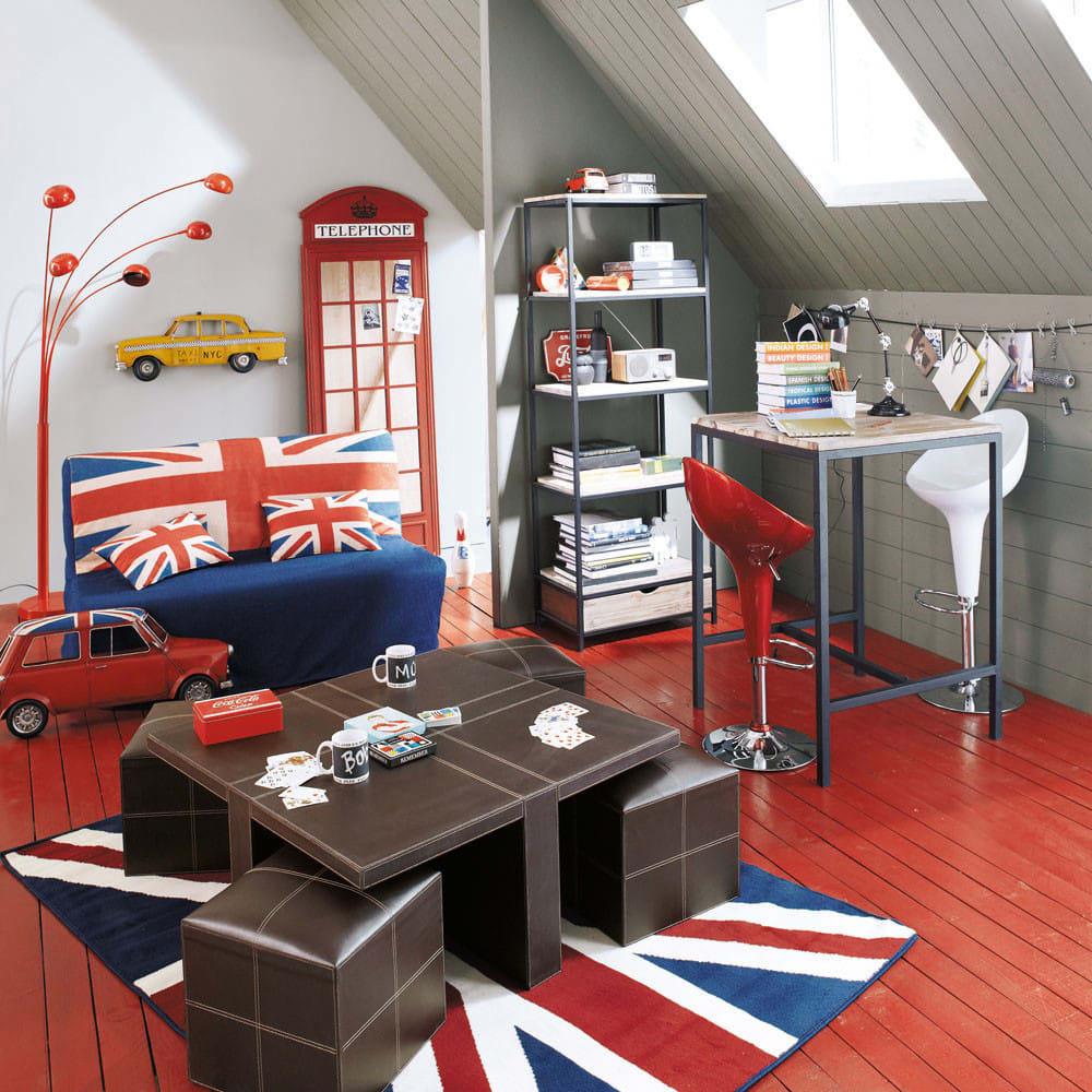 housse de canap bz imprim e union jack en coton elliot. Black Bedroom Furniture Sets. Home Design Ideas