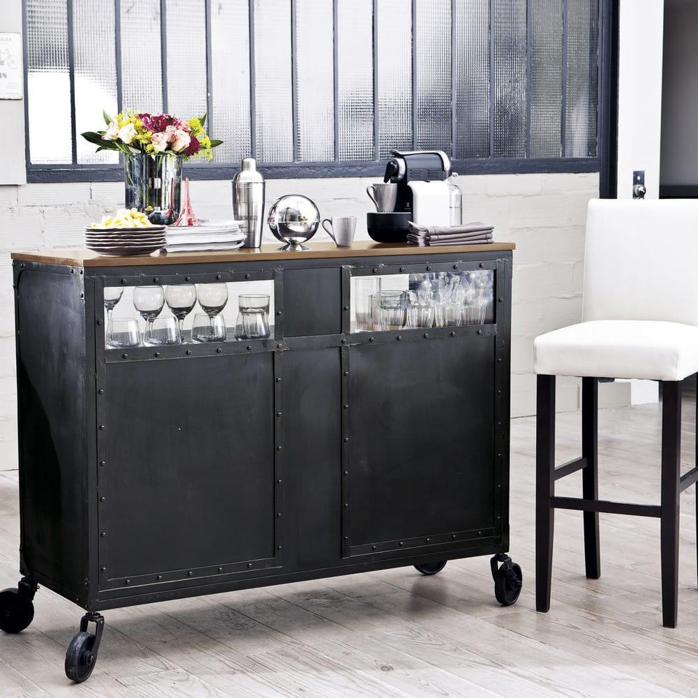 housse de chaise de bar en coton ivoire boston maisons. Black Bedroom Furniture Sets. Home Design Ideas