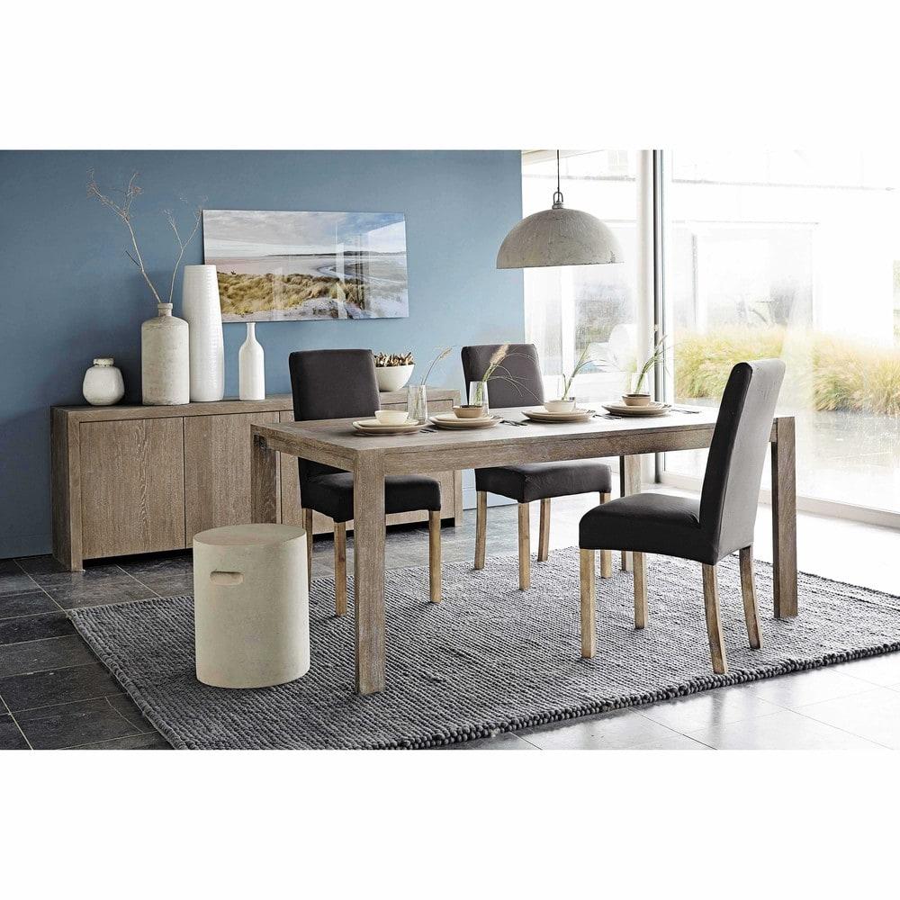 housse de chaise en coton gris anthracite 47x57 margaux. Black Bedroom Furniture Sets. Home Design Ideas