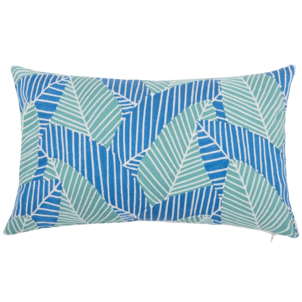 housse de coussin en coton bleu et vert 30x50 tolo. Black Bedroom Furniture Sets. Home Design Ideas