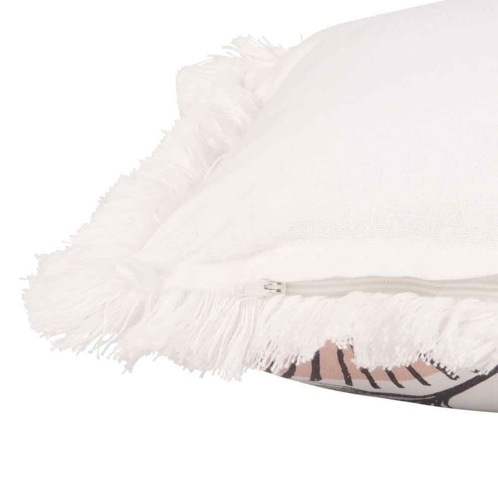 housse de coussin en coton imprim franges 30x50 meknes. Black Bedroom Furniture Sets. Home Design Ideas