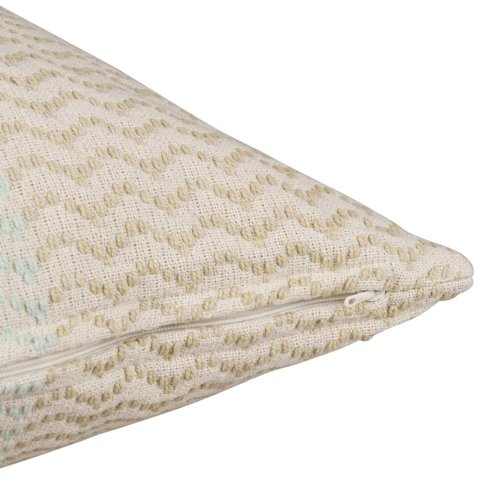 housse de coussin en coton motif jacquard 50x50 saidia. Black Bedroom Furniture Sets. Home Design Ideas
