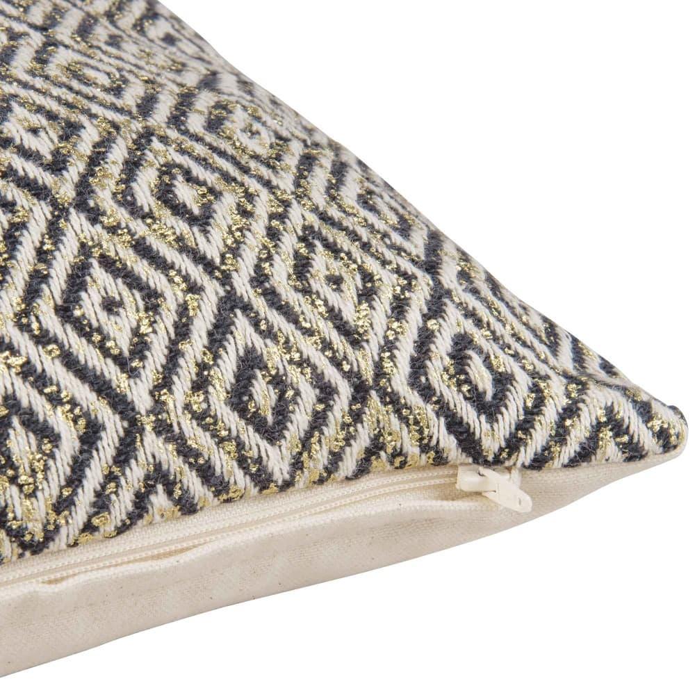 housse de coussin en coton motifs jacquard 40x40 pepite. Black Bedroom Furniture Sets. Home Design Ideas