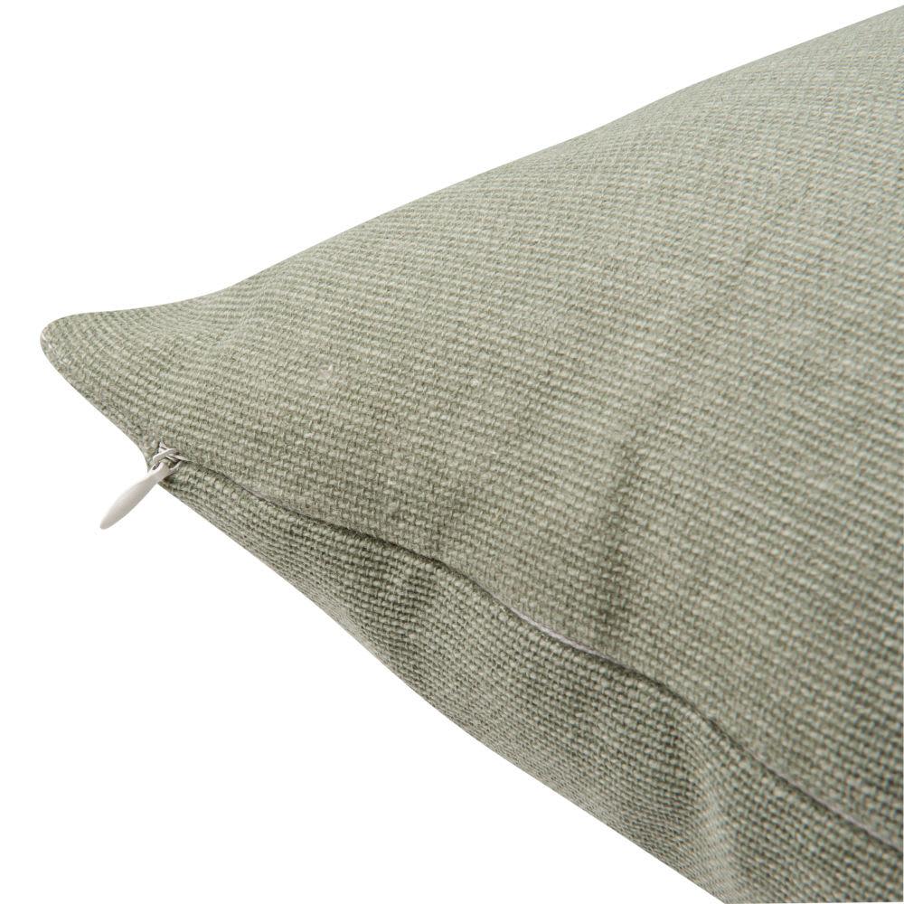 housse de coussin en coton vert 50x50 laurier maisons du. Black Bedroom Furniture Sets. Home Design Ideas