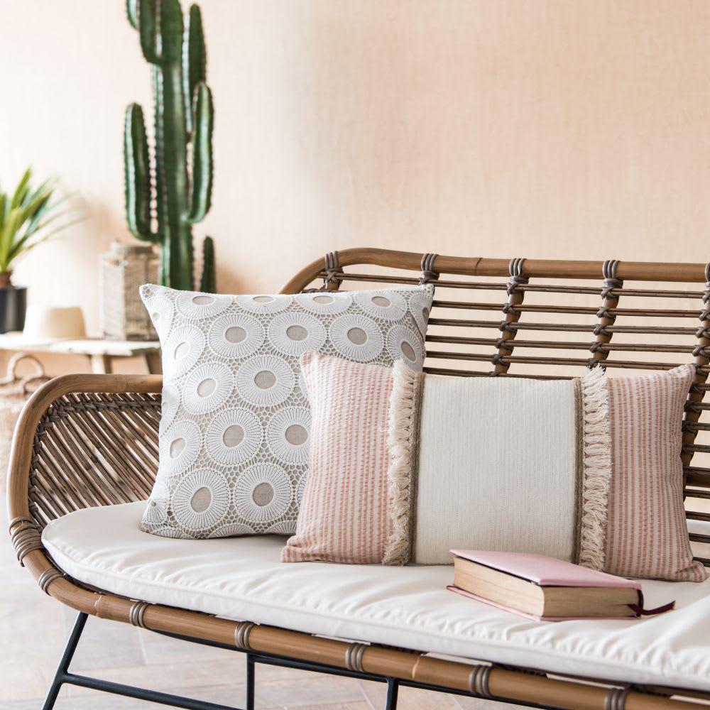 housse de coussin motifs cercles crus 40x40 honolulu. Black Bedroom Furniture Sets. Home Design Ideas