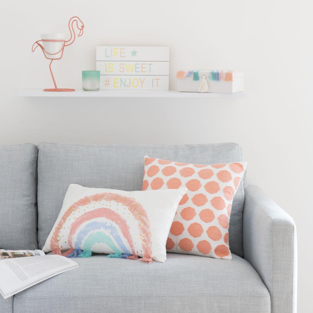 housse de coussin motifs graphiques roses 40x40 pitaya. Black Bedroom Furniture Sets. Home Design Ideas