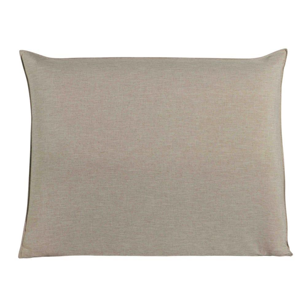 housse de t te de lit 140 beige soft maisons du monde. Black Bedroom Furniture Sets. Home Design Ideas