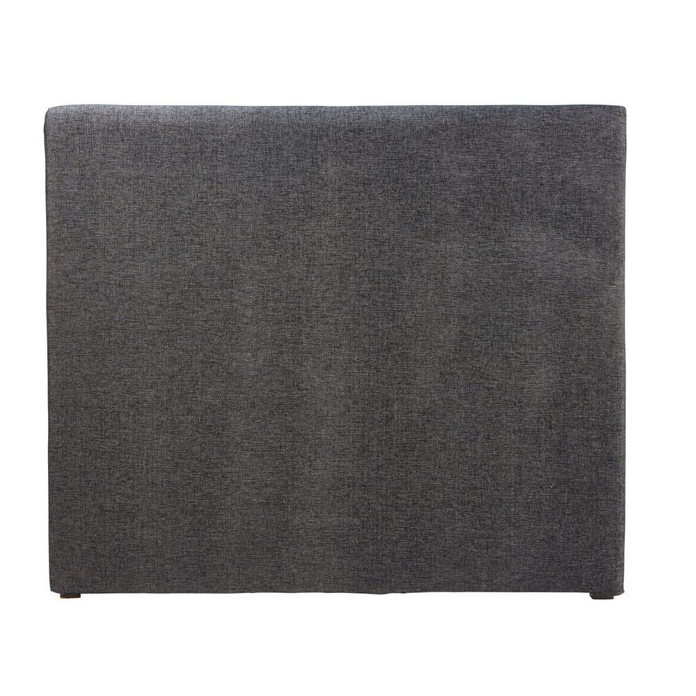 housse de t te de lit 140 gris carbone morphee maisons du monde. Black Bedroom Furniture Sets. Home Design Ideas