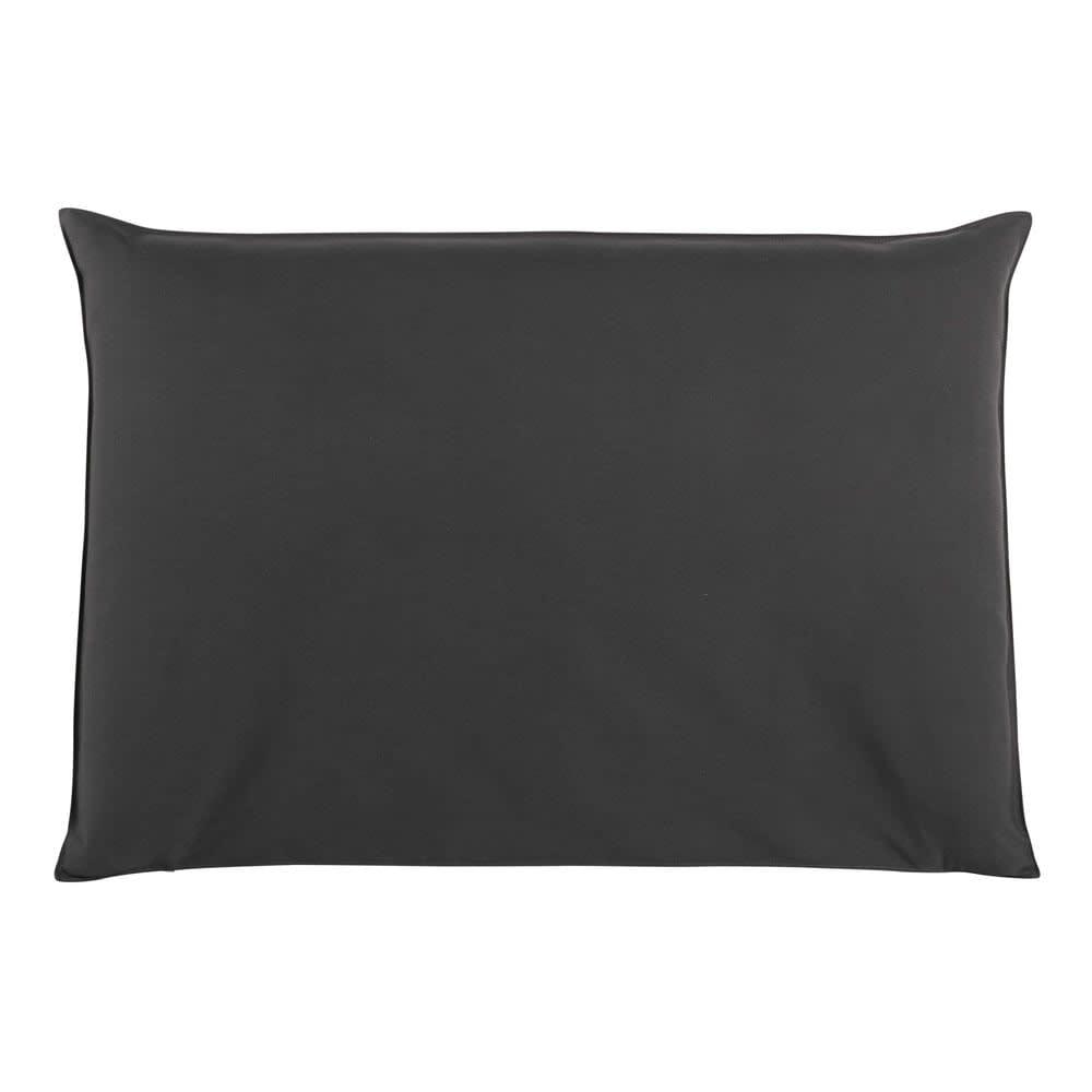 housse de t te de lit 160 anthracite soft maisons du monde. Black Bedroom Furniture Sets. Home Design Ideas
