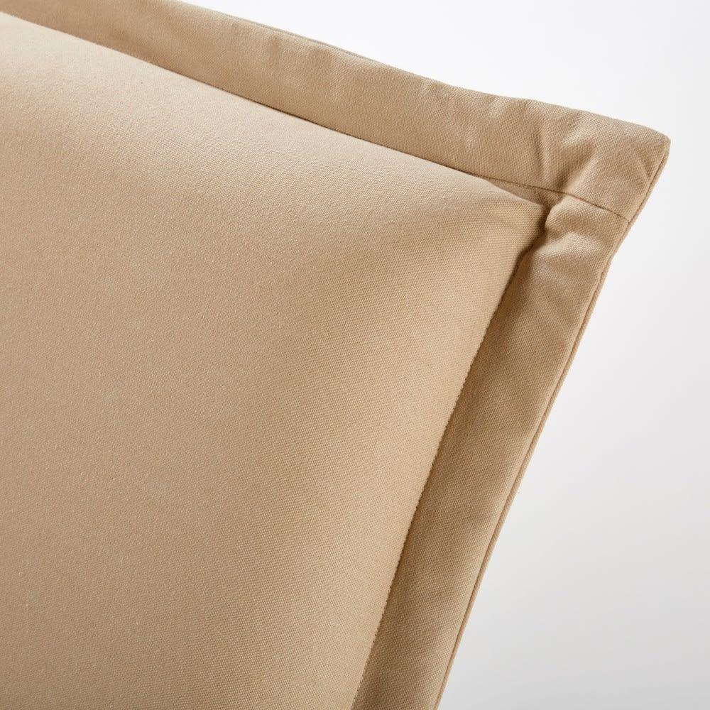 housse de t te de lit 160 en coton beige morphee maisons. Black Bedroom Furniture Sets. Home Design Ideas