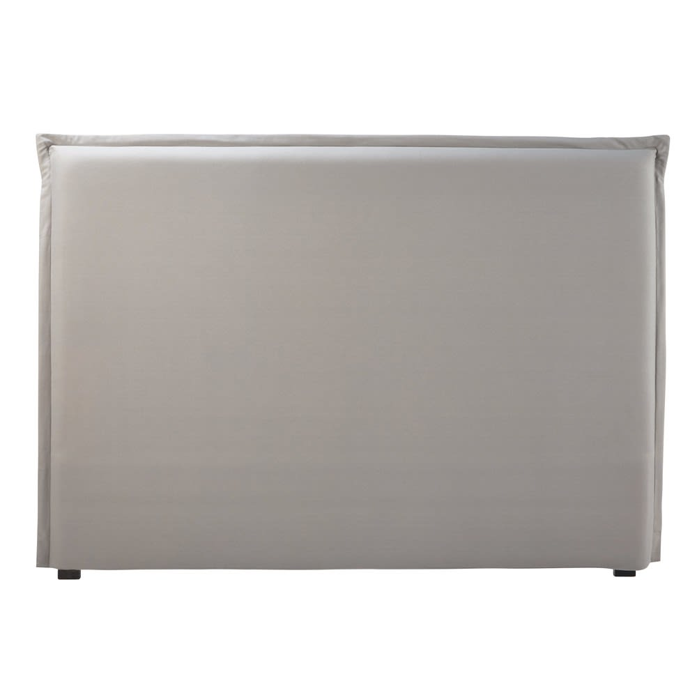 housse de t te de lit 160 en coton gris morphee maisons du monde. Black Bedroom Furniture Sets. Home Design Ideas