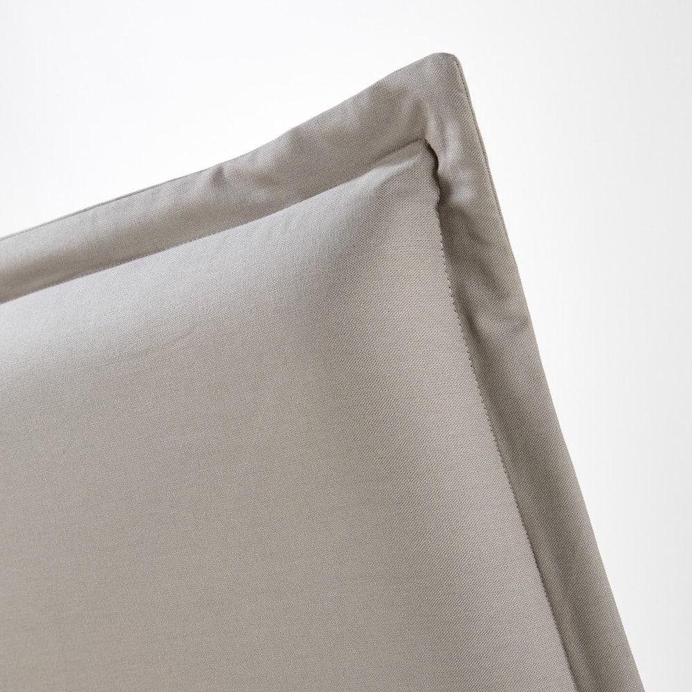 housse de t te de lit 160 en coton gris morphee maisons. Black Bedroom Furniture Sets. Home Design Ideas