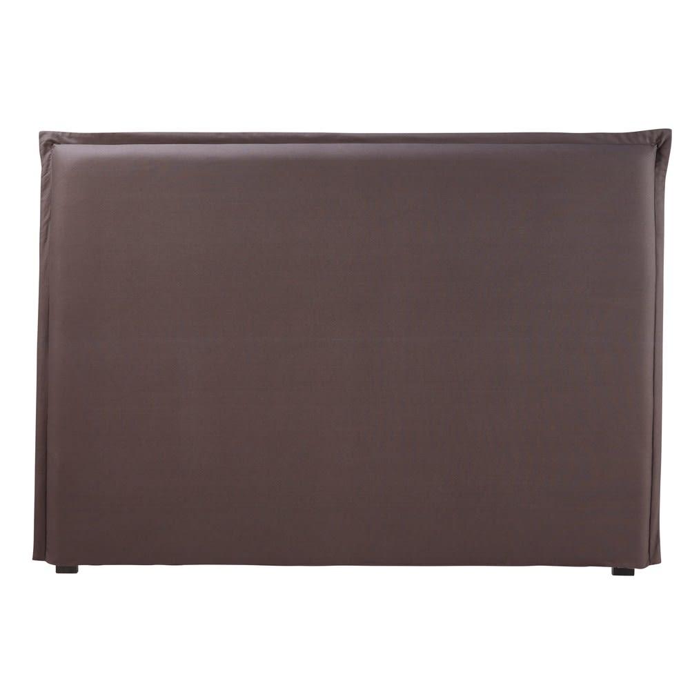 housse de t te de lit 160 en coton gris anthracite morphee maisons du monde. Black Bedroom Furniture Sets. Home Design Ideas