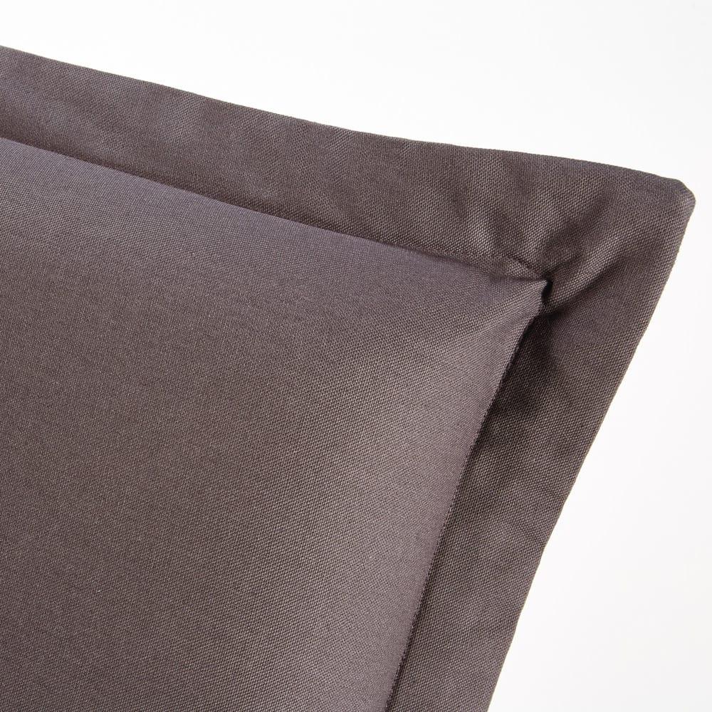 housse de t te de lit 160 en coton gris anthracite morphee. Black Bedroom Furniture Sets. Home Design Ideas