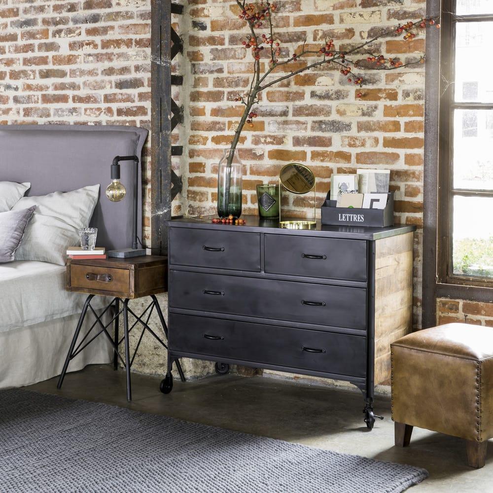 housse de t te de lit 160 en lin bleu glacier morph e. Black Bedroom Furniture Sets. Home Design Ideas
