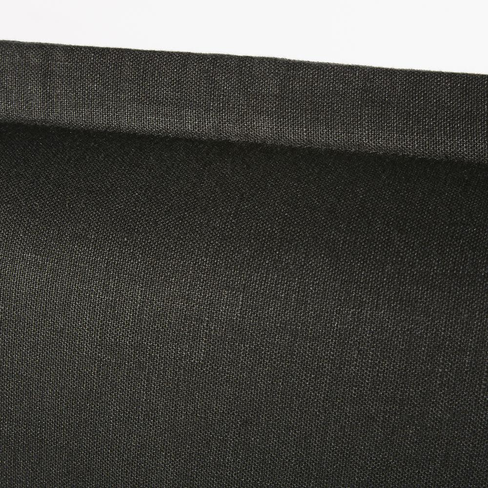 housse de t te de lit 160 en lin lav gris charbon morphee. Black Bedroom Furniture Sets. Home Design Ideas
