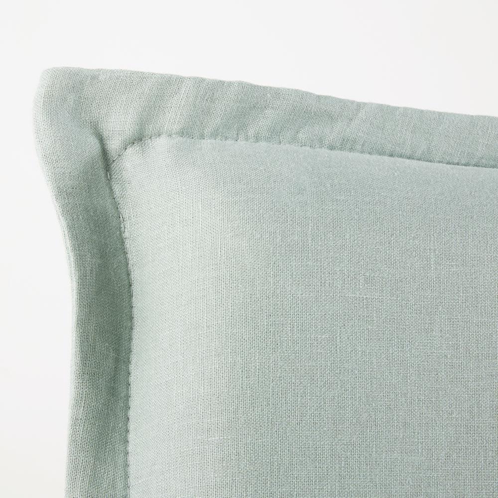 housse de t te de lit 160 en lin lav vert jade morphee. Black Bedroom Furniture Sets. Home Design Ideas