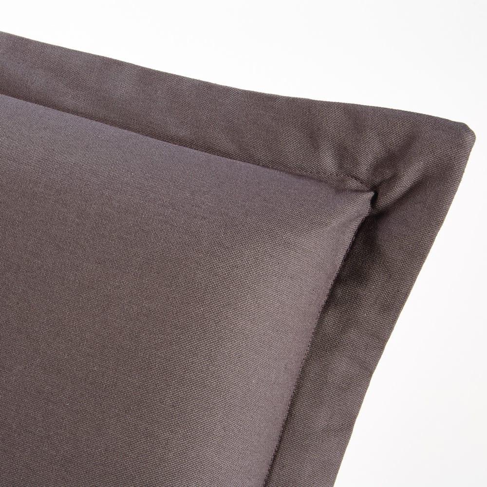 housse de t te de lit 180 en coton gris anthracite morphee maisons du monde. Black Bedroom Furniture Sets. Home Design Ideas