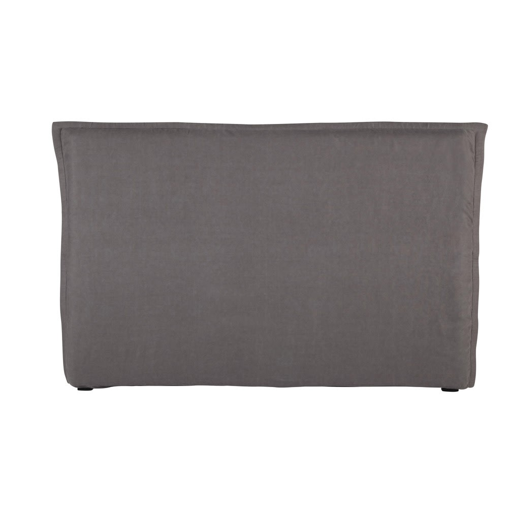 housse de t te de lit 180 en lin lav grise morph e maisons du monde. Black Bedroom Furniture Sets. Home Design Ideas