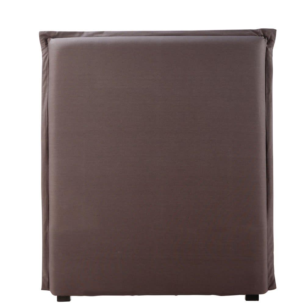 housse de t te de lit 90 en coton gris anthracite morphee maisons du monde. Black Bedroom Furniture Sets. Home Design Ideas