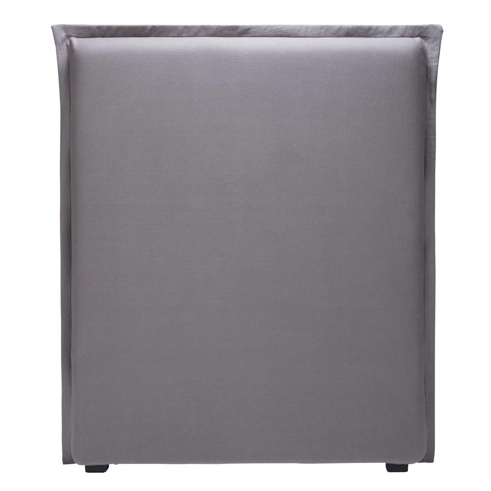 housse de t te de lit 90 en lin gris morphee maisons du. Black Bedroom Furniture Sets. Home Design Ideas