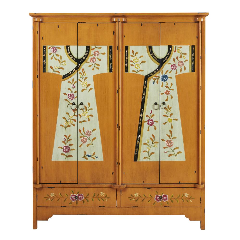 Linnenkast 150 Cm.Houten Kast Met Bedrukking B 150 Cm Kimono Maisons Du Monde