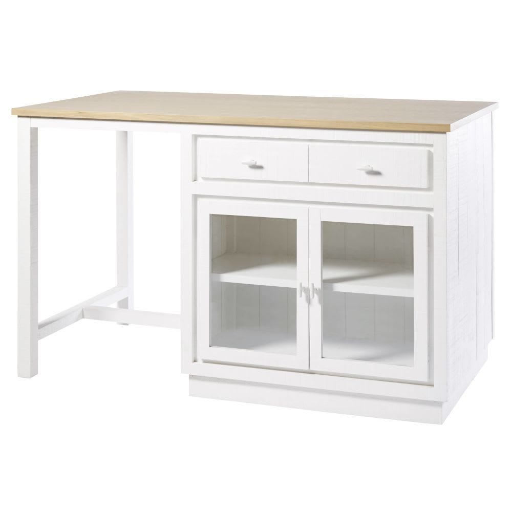 lot central cuisine 6 tiroirs 2 portes blanc embrun. Black Bedroom Furniture Sets. Home Design Ideas