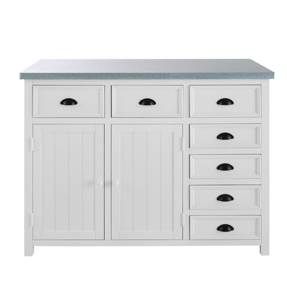 lot central cuisine en pin blanc l120 newport maisons. Black Bedroom Furniture Sets. Home Design Ideas