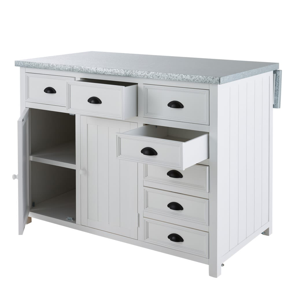 lot central en pin blanc l120 newport maisons du monde. Black Bedroom Furniture Sets. Home Design Ideas