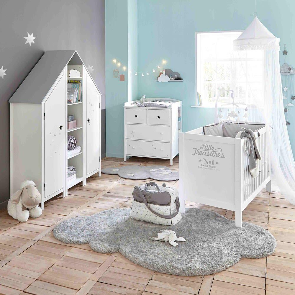 Kurzhaarteppich Wolke Grau 125x200 Maisons Du Monde