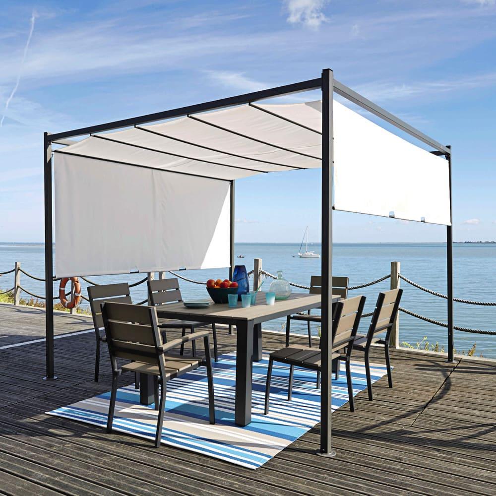 Maison Du Monde Sedie Da Giardino.Tavolo Grigiastro Da Giardino In Alluminio L 180 Cm Escale