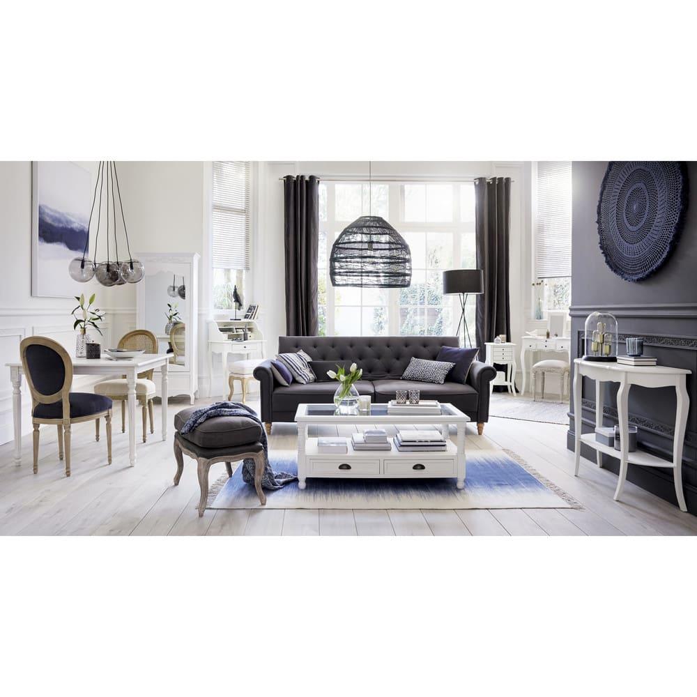 Maison Du Monde Credenze Bianche tavolo basso bianco a 2 cassetti