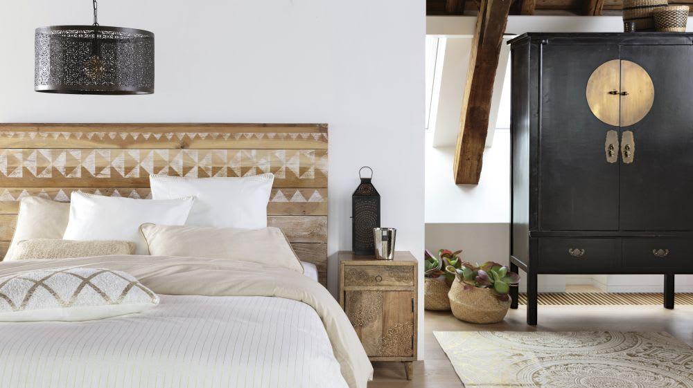 Testate Letto In Legno Negozio : Testata da letto a motivi in legno riciclato l 140 cm tikka