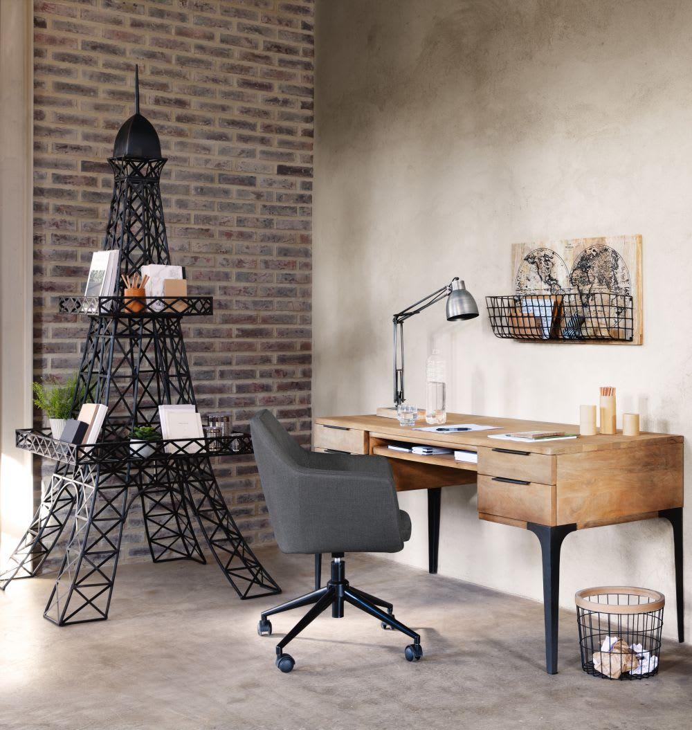 Schreibtisch mit 4 Schubladen aus Mango- und Akazienholz