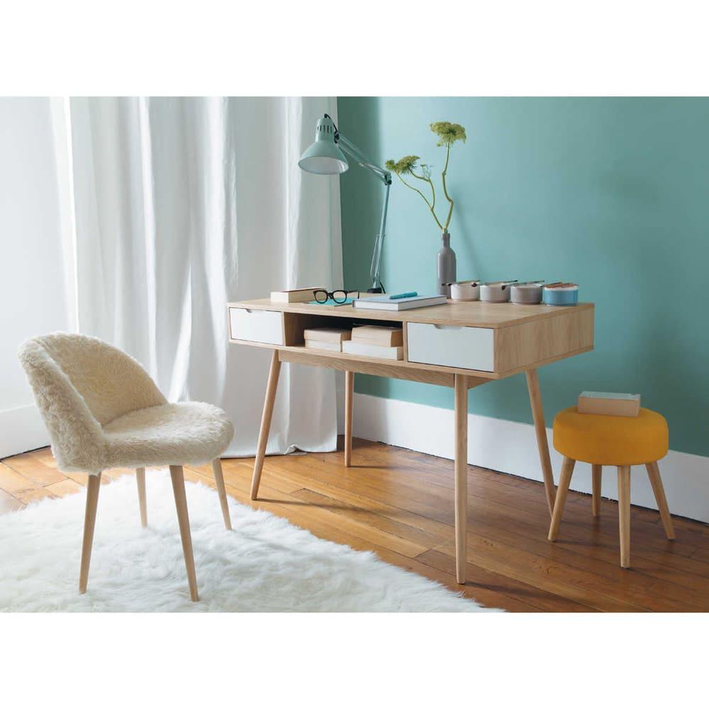 Schreibtisch im Vintage-Stil mit 2 Schubladen