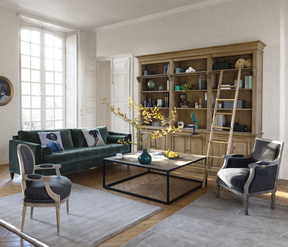 Maison Du Monde Segrate.Cuscino Beige Con Stampa Cane 45x45 Cm