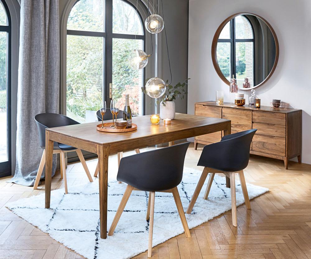 Mesa de comedor vintage para 6/8 personas de acacia An.180 Malmo ...