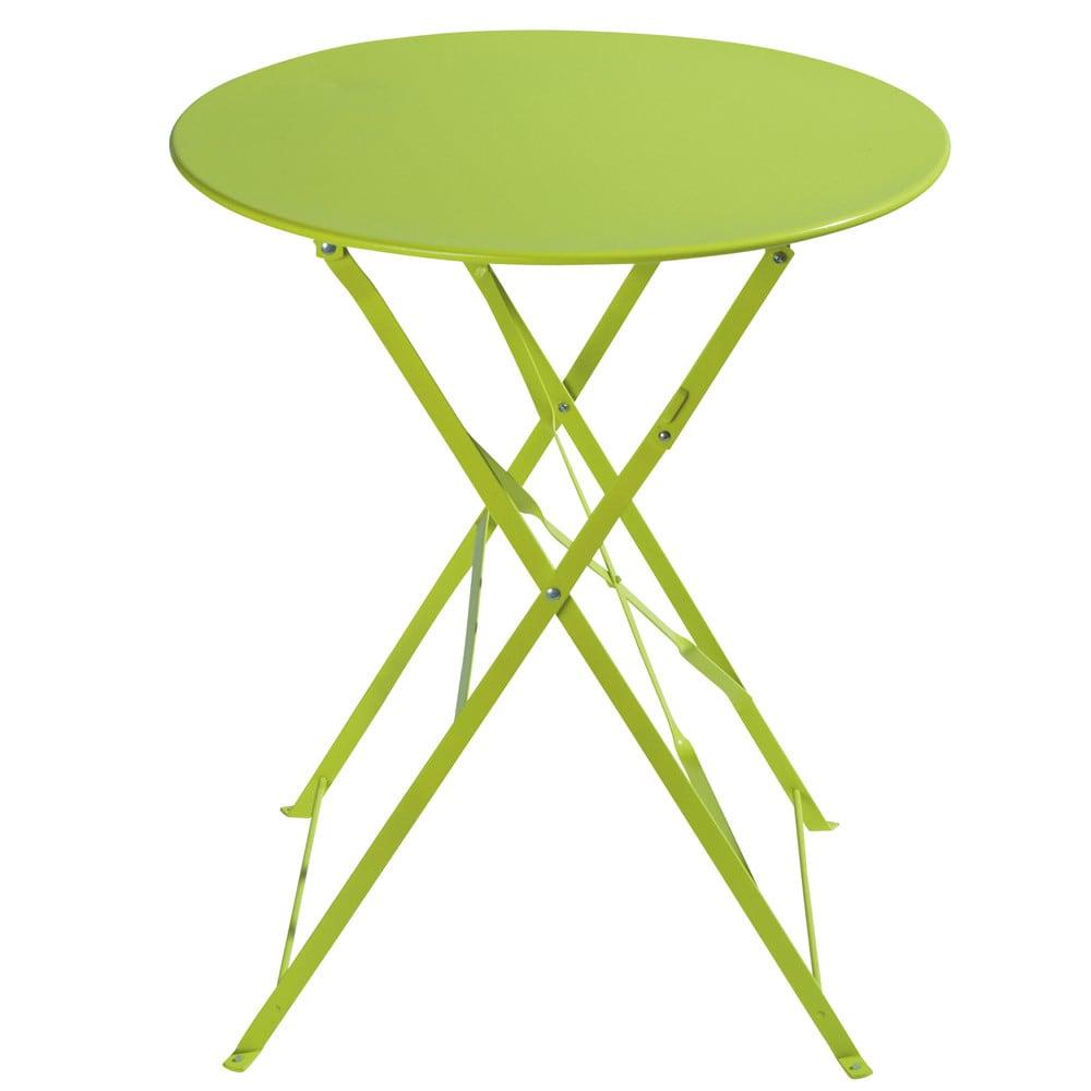 Klappgartentisch aus Metall, D 58 cm, anisgrün Confetti Guinguette ...