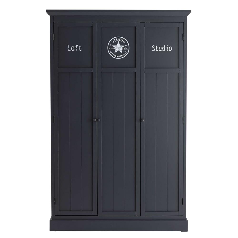 Kleiderschrank B 125 cm, grau Newport | Maisons du Monde