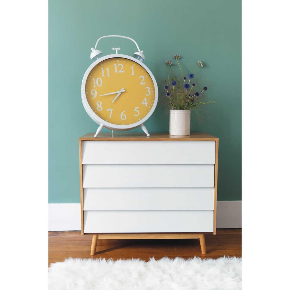 kommode im vintage stil mit 4 schublade wei fjord. Black Bedroom Furniture Sets. Home Design Ideas