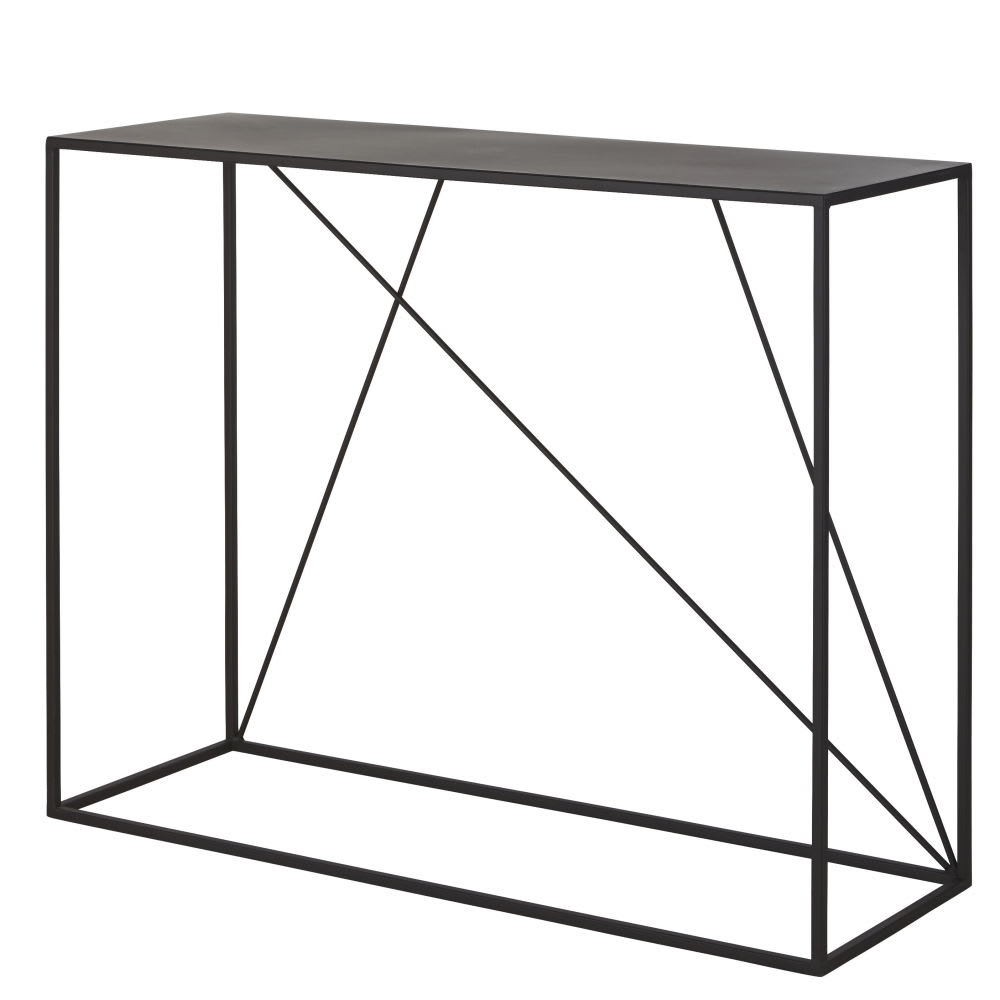 konsole aus metall schwarz edwin maisons du monde. Black Bedroom Furniture Sets. Home Design Ideas