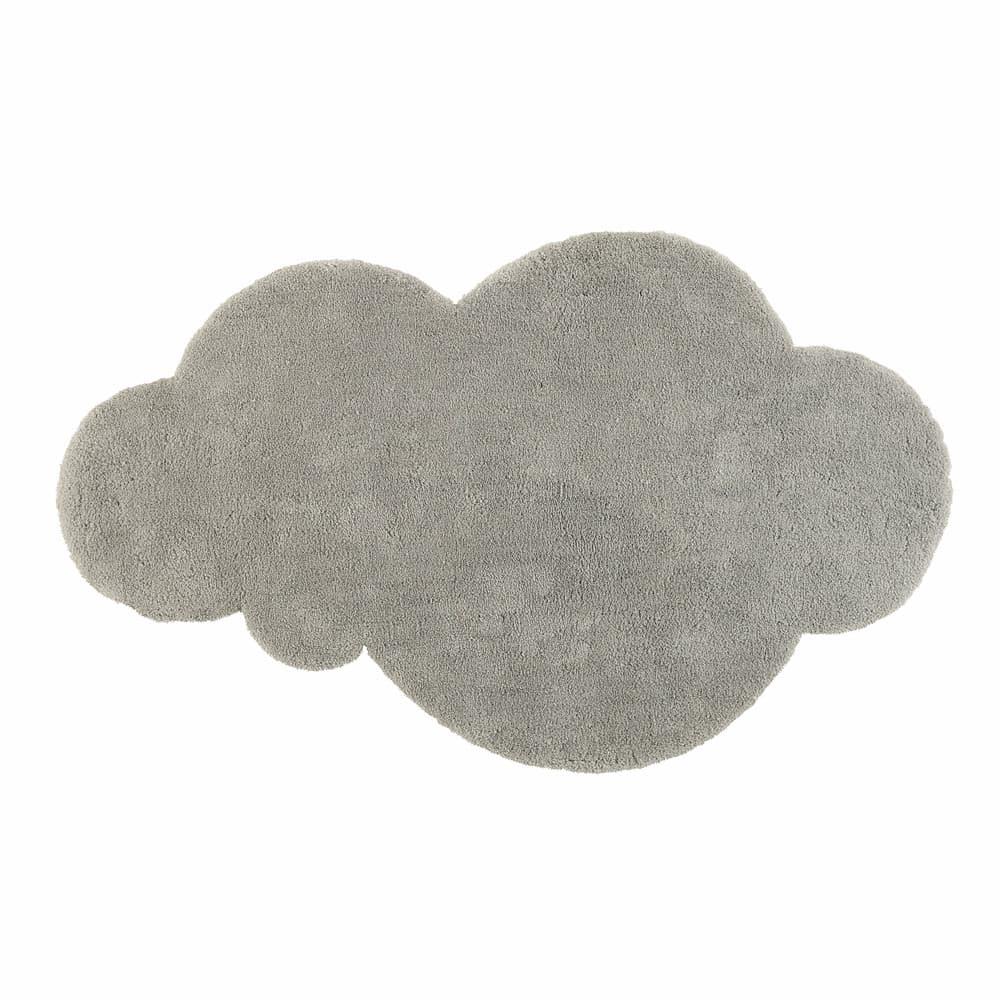 Kurzhaarteppich Wolke Grau 125 X 200 Cm Maisons Du Monde
