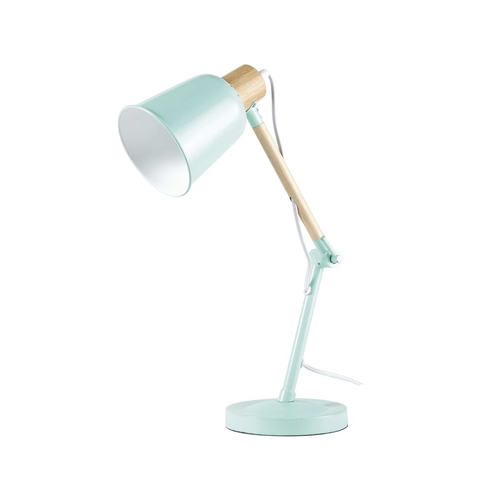 Lampada da tavolo in metallo verde pixie maisons du monde for Lampada da tavolo verde