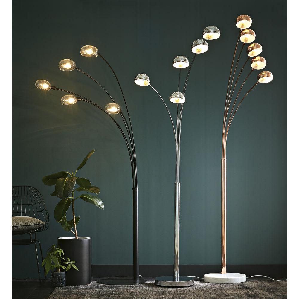 lampadaire 5 branches en m tal chrom h198 octopus maisons du monde. Black Bedroom Furniture Sets. Home Design Ideas