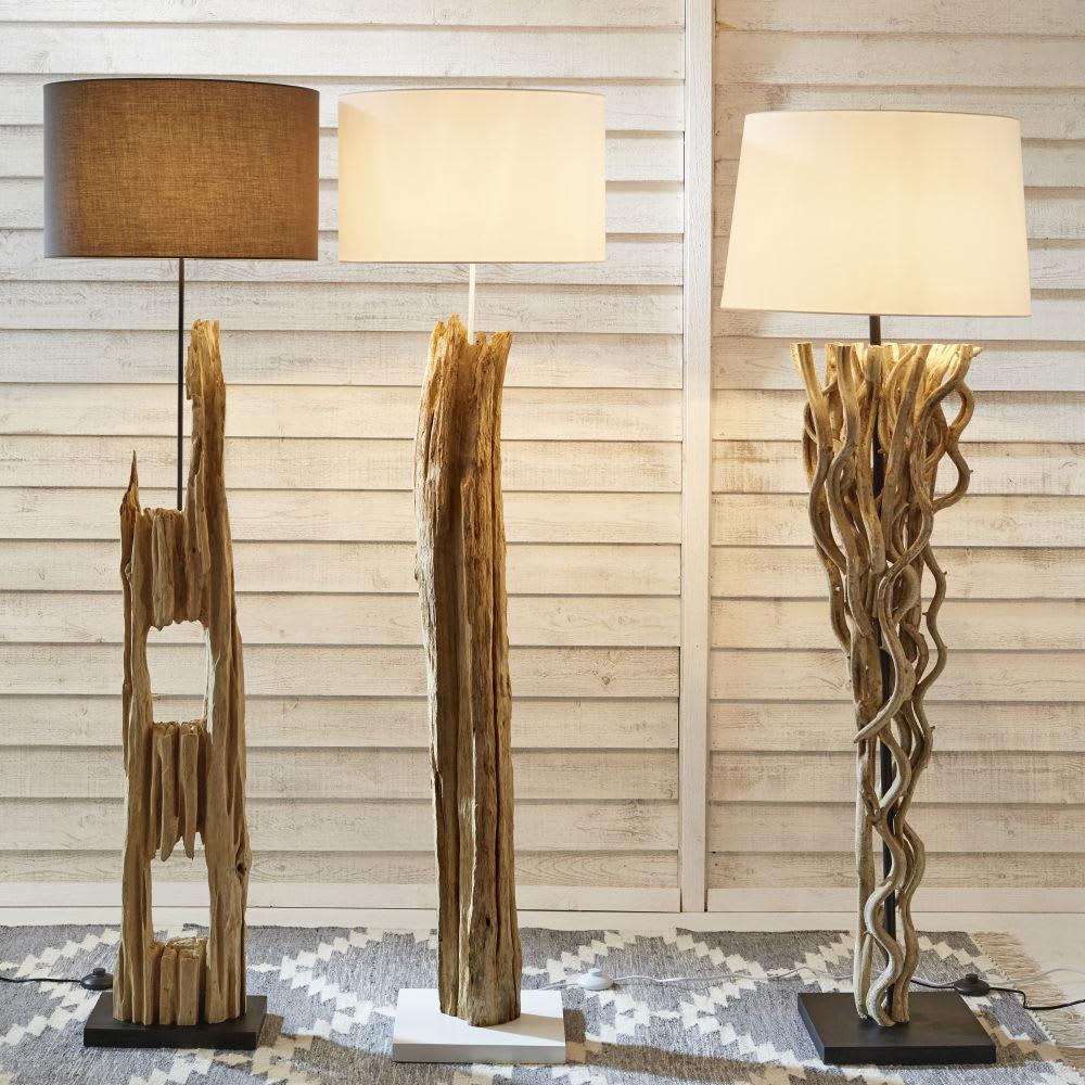 lampadaire en bois h 170 cm alpages maisons du monde. Black Bedroom Furniture Sets. Home Design Ideas